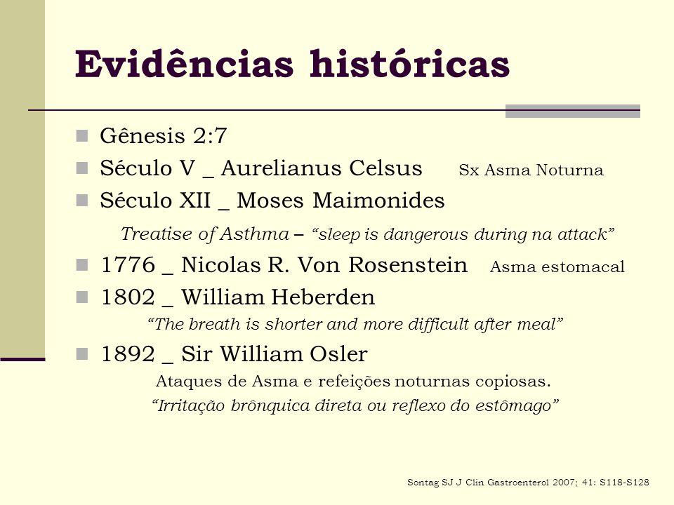 Evidências históricas