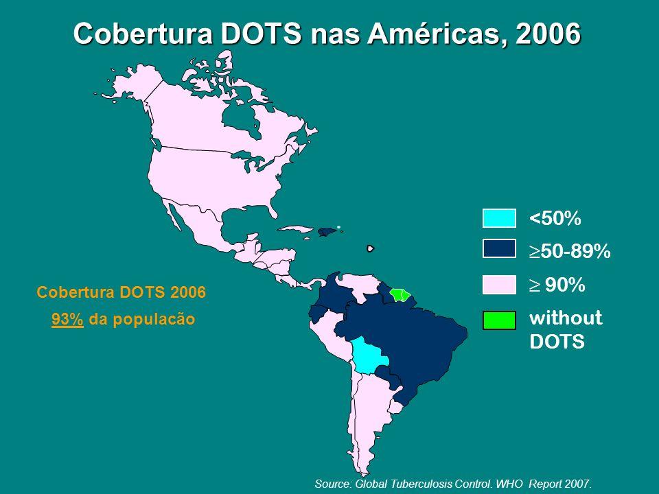 Cobertura DOTS nas Américas, 2006