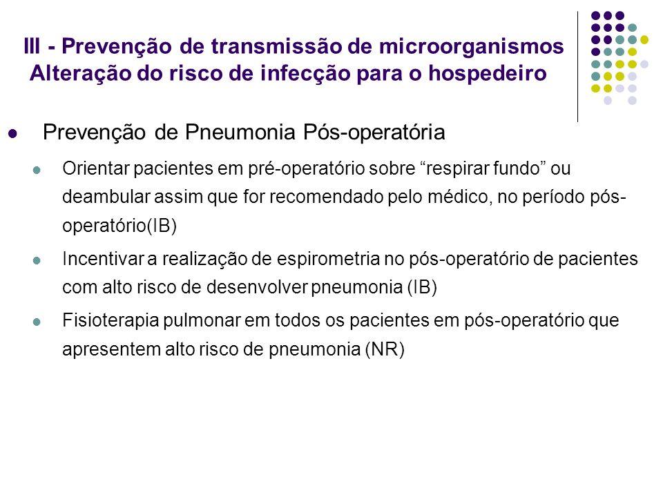 Prevenção de Pneumonia Pós-operatória