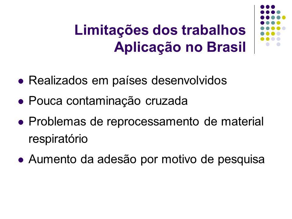 Limitações dos trabalhos Aplicação no Brasil