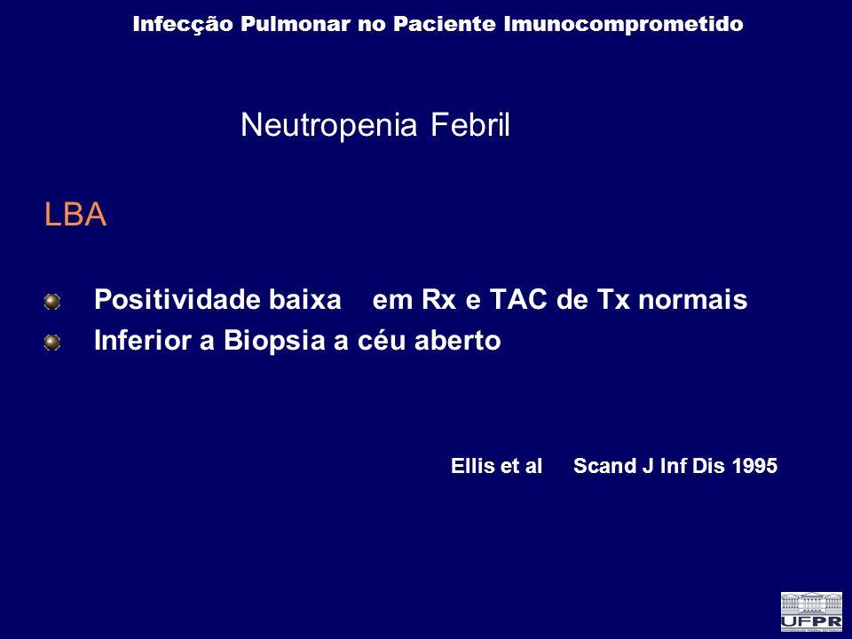 LBA Neutropenia Febril Positividade baixa em Rx e TAC de Tx normais