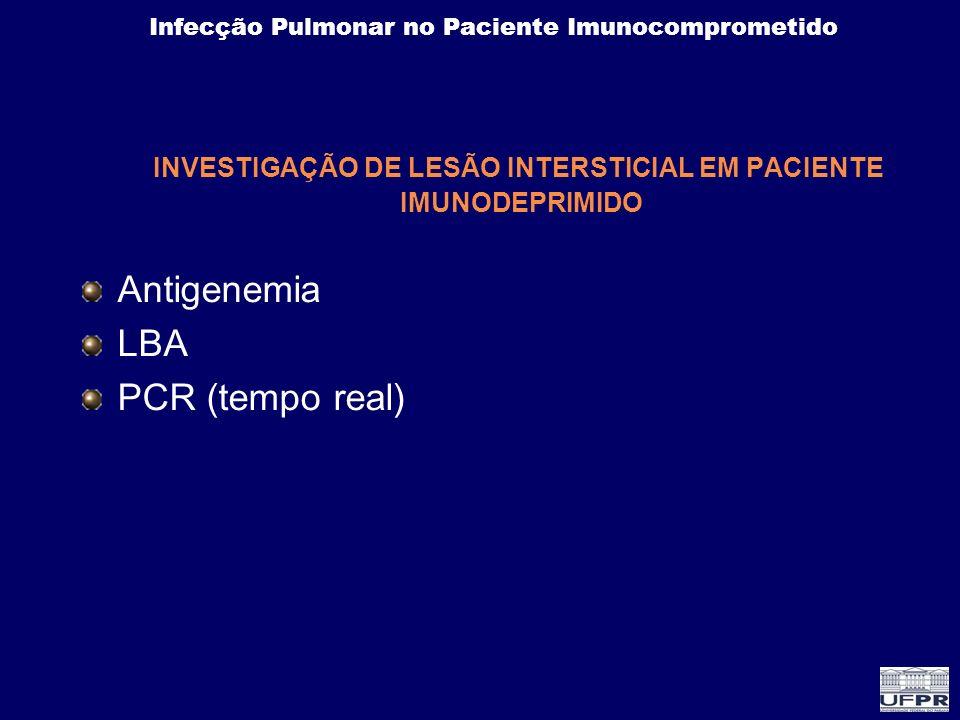 INVESTIGAÇÃO DE LESÃO INTERSTICIAL EM PACIENTE IMUNODEPRIMIDO