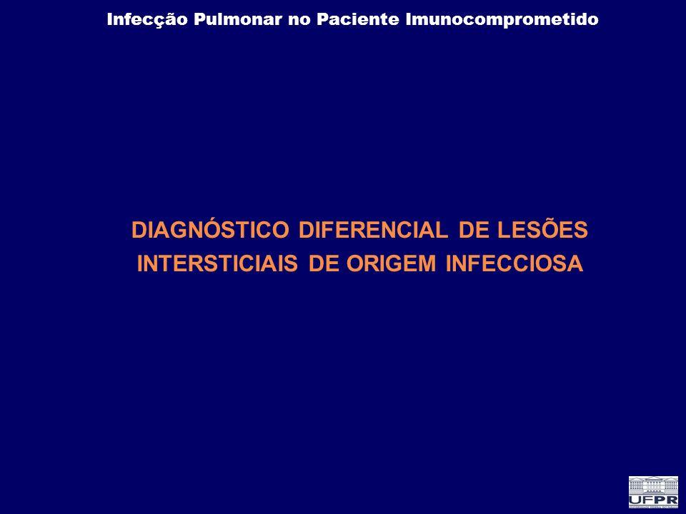 DIAGNÓSTICO DIFERENCIAL DE LESÕES INTERSTICIAIS DE ORIGEM INFECCIOSA