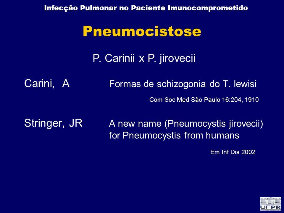 Pneumocistose P. Carinii x P. jirovecii