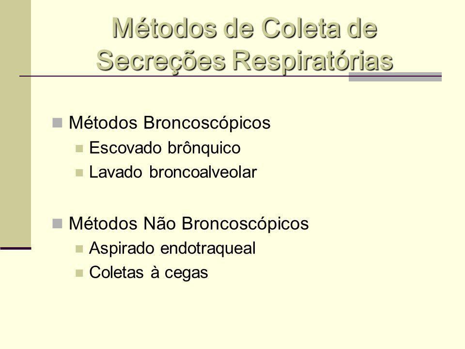 Métodos de Coleta de Secreções Respiratórias