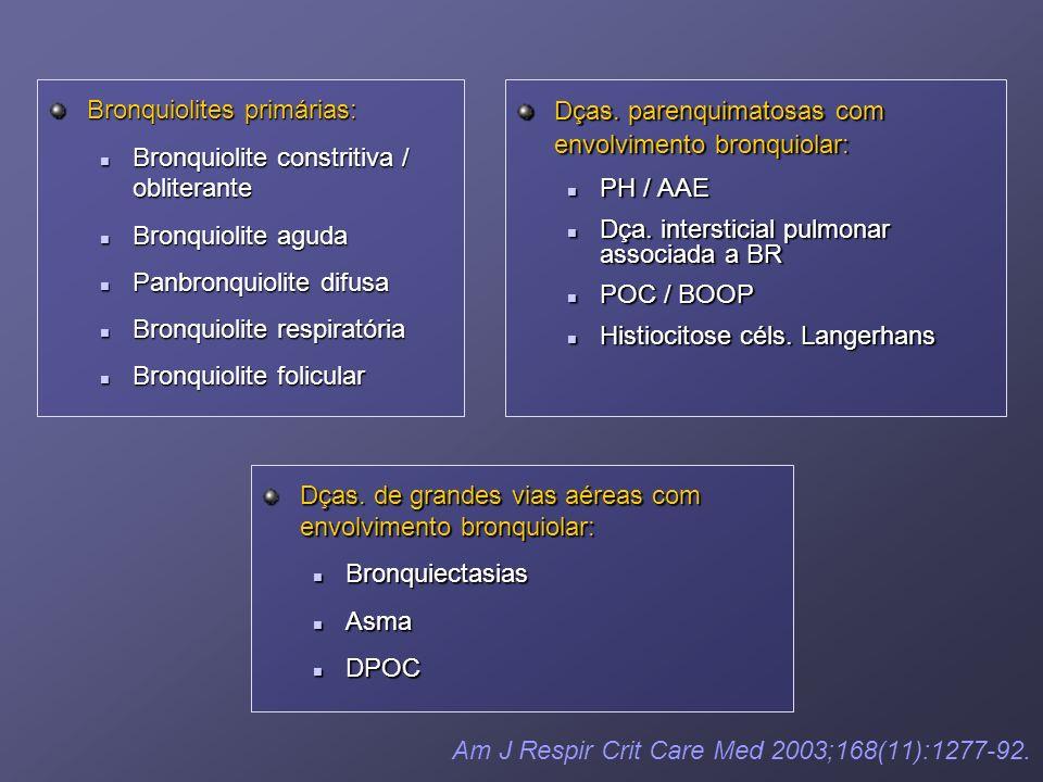 Bronquiolites primárias: