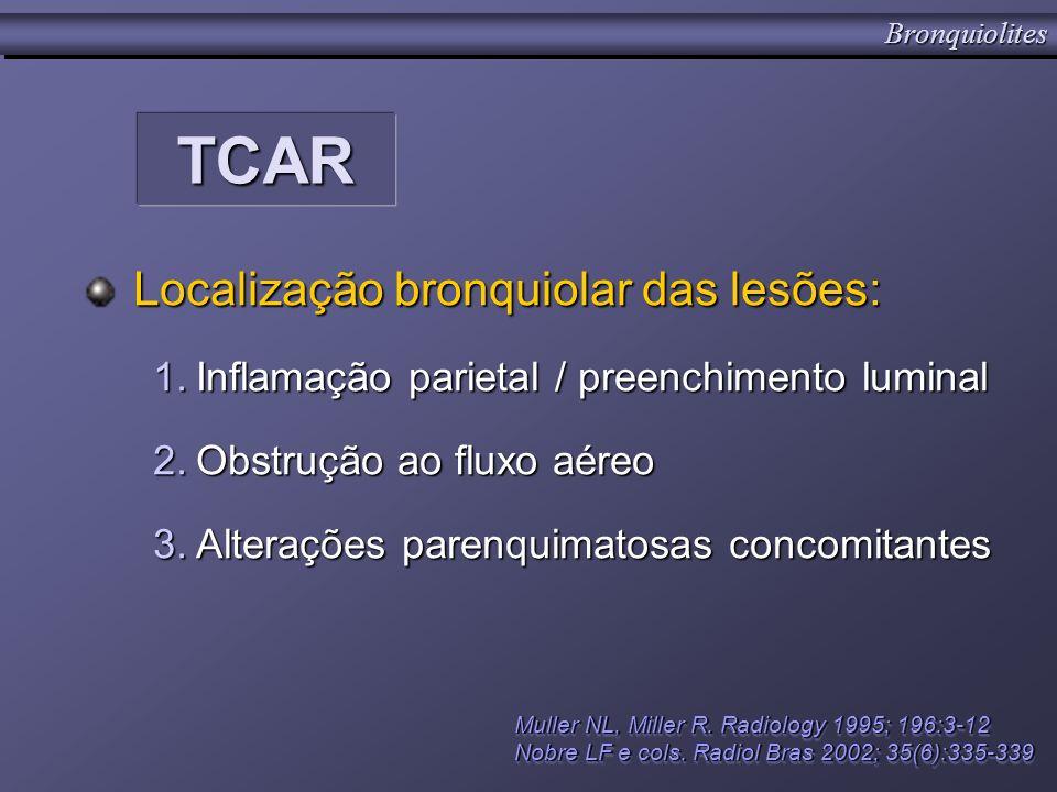 TCAR Localização bronquiolar das lesões: