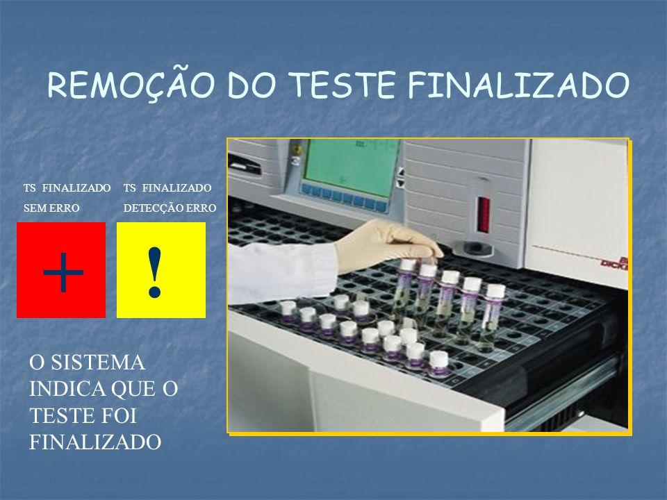 REMOÇÃO DO TESTE FINALIZADO