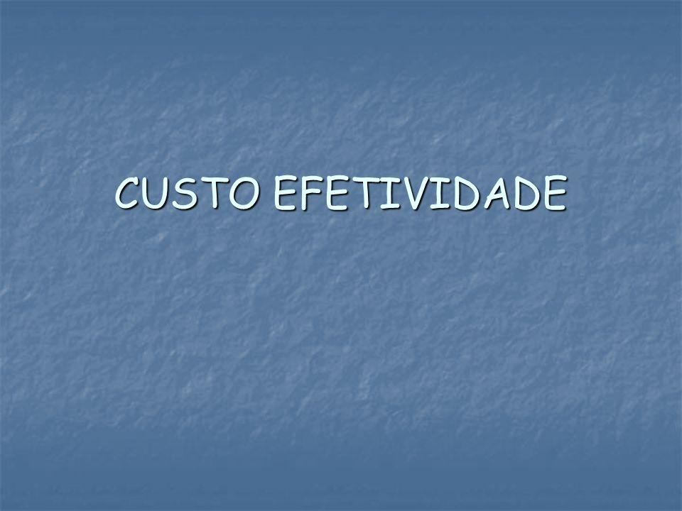 CUSTO EFETIVIDADE