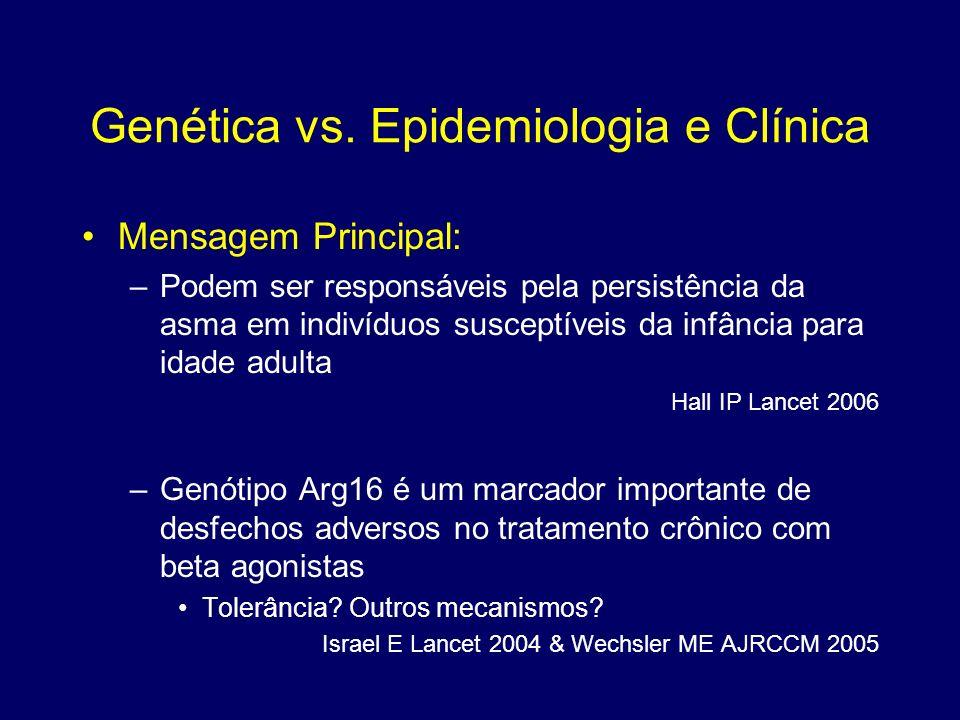 Genética vs. Epidemiologia e Clínica