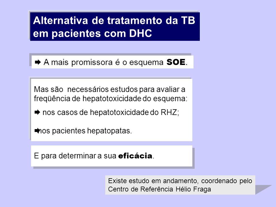 Alternativa de tratamento da TB em pacientes com DHC