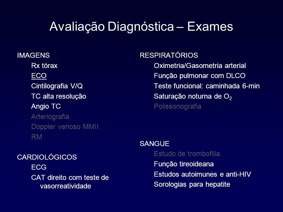 Avaliação Diagnóstica – Exames