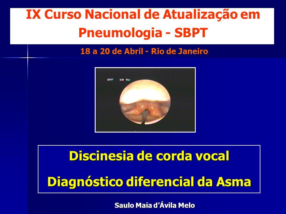 IX Curso Nacional de Atualização em Pneumologia - SBPT