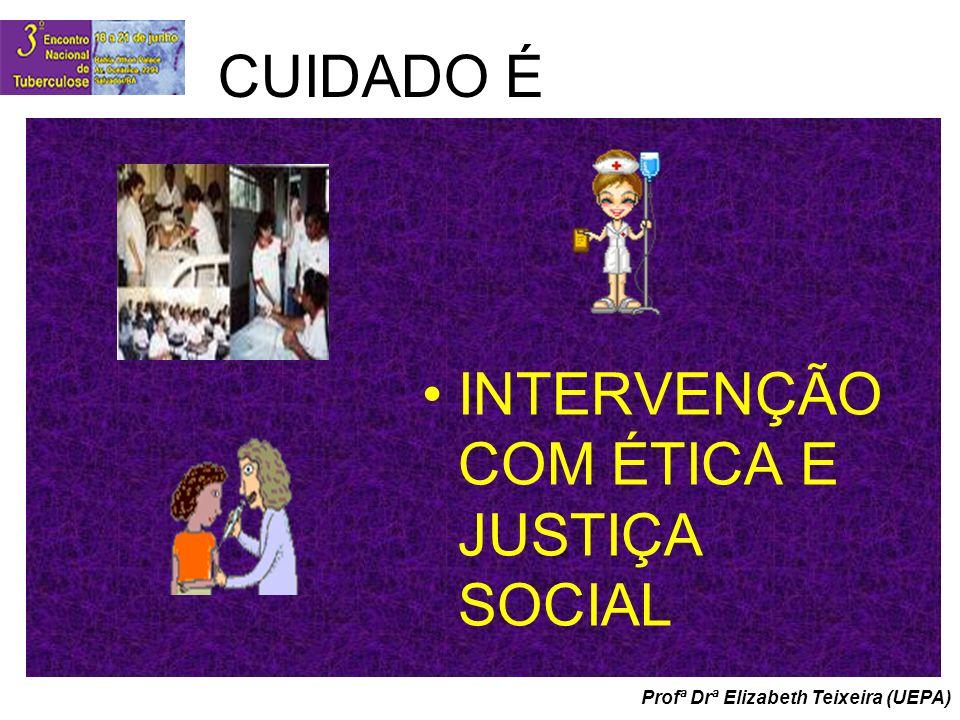 CUIDADO É INTERVENÇÃO COM ÉTICA E JUSTIÇA SOCIAL