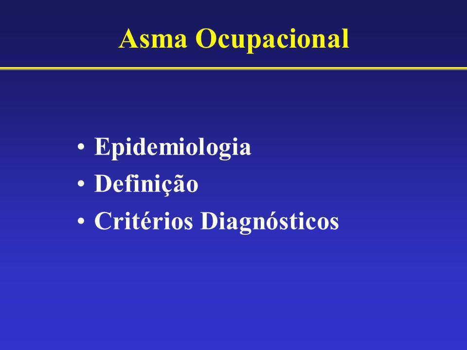 Asma Ocupacional Epidemiologia Definição Critérios Diagnósticos