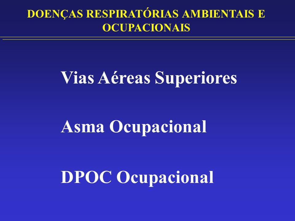 DOENÇAS RESPIRATÓRIAS AMBIENTAIS E OCUPACIONAIS