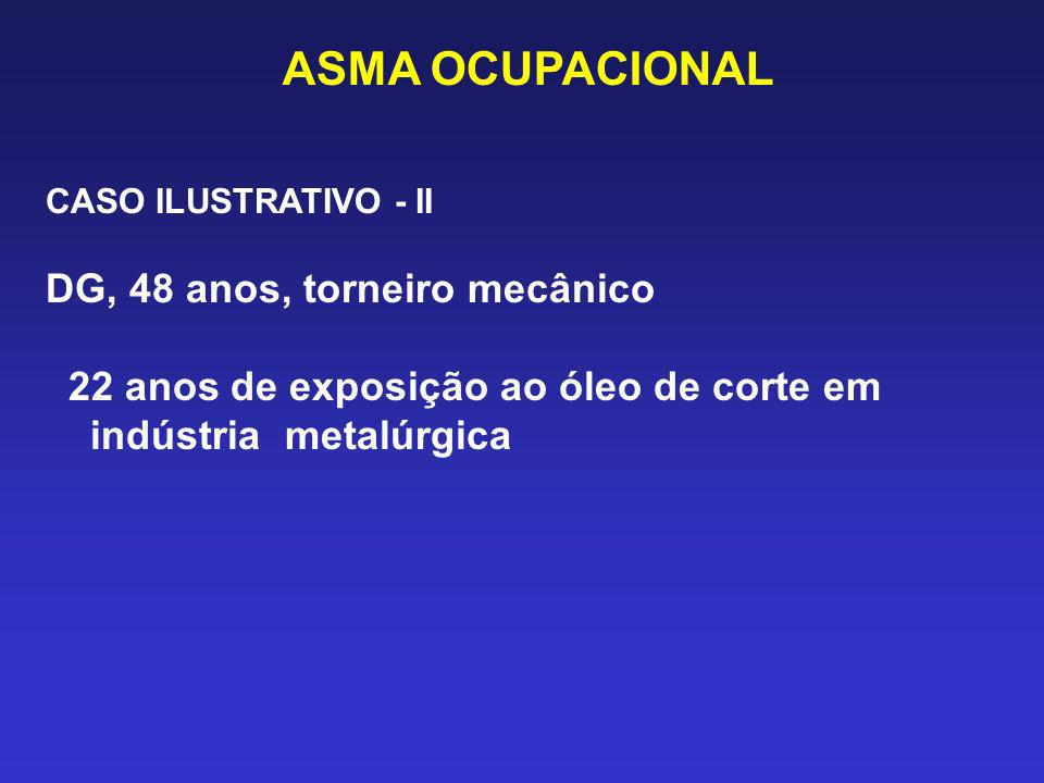 ASMA OCUPACIONAL DG, 48 anos, torneiro mecânico