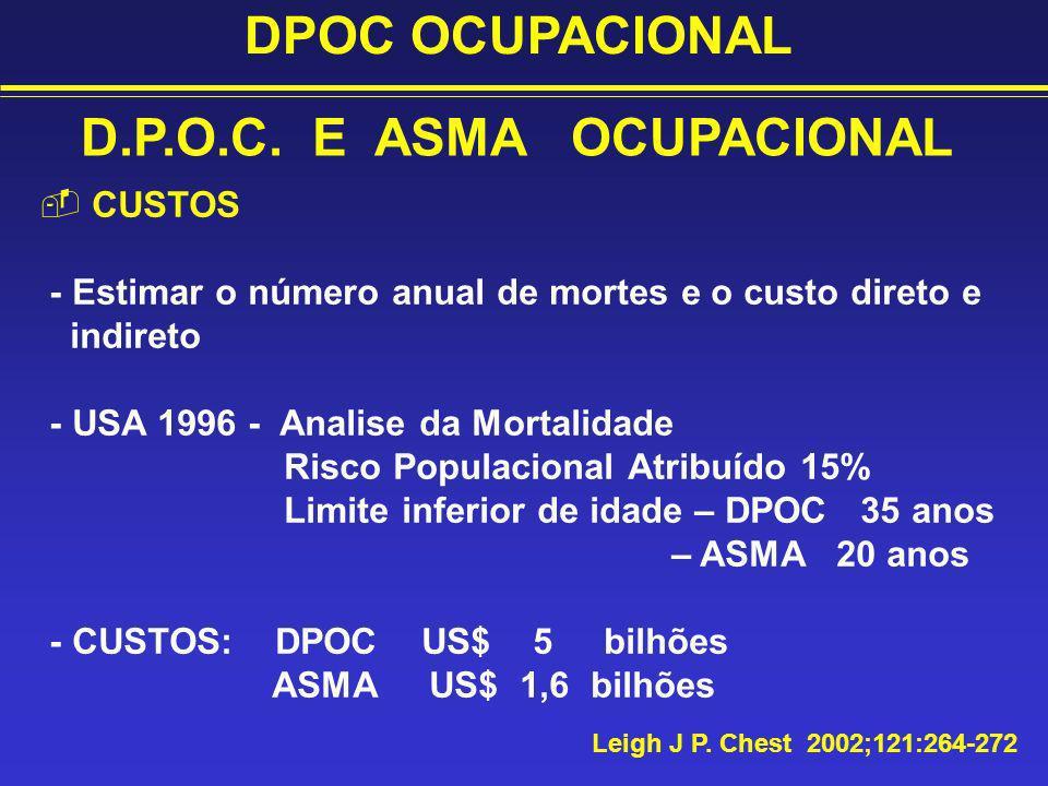 D.P.O.C. E ASMA OCUPACIONAL
