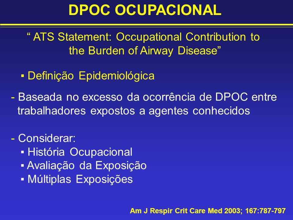 DPOC OCUPACIONAL ATS Statement: Occupational Contribution to