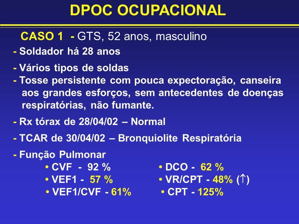 DPOC OCUPACIONAL CASO 1 - GTS, 52 anos, masculino