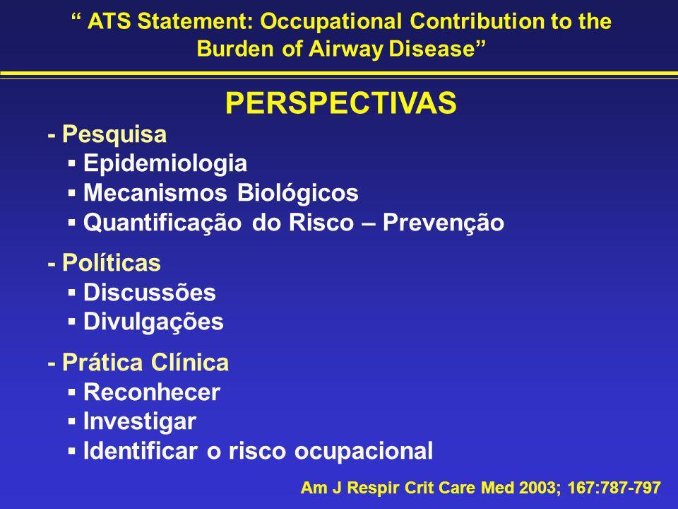 PERSPECTIVAS - Pesquisa ▪ Epidemiologia ▪ Mecanismos Biológicos