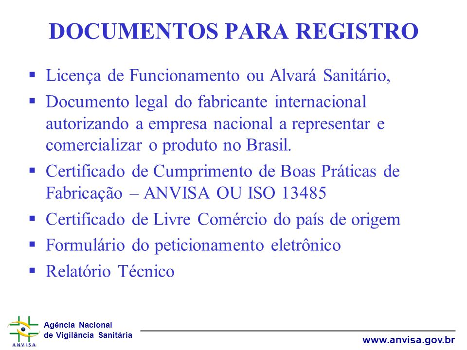 DOCUMENTOS PARA REGISTRO
