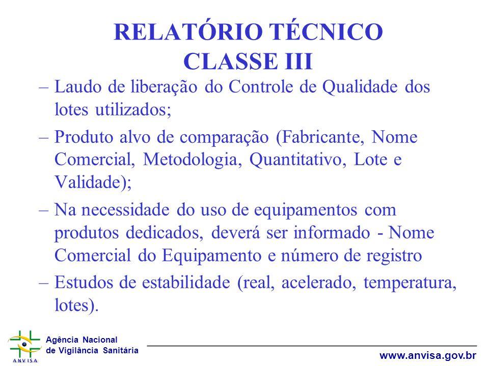 RELATÓRIO TÉCNICO CLASSE III