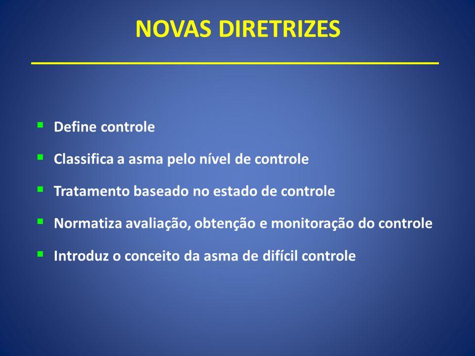 NOVAS DIRETRIZES Define controle