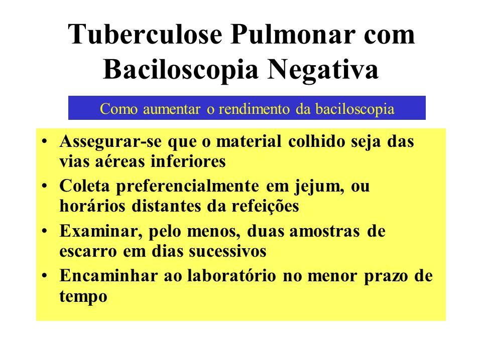 Tuberculose Pulmonar com Baciloscopia Negativa