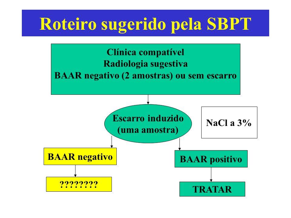 Roteiro sugerido pela SBPT