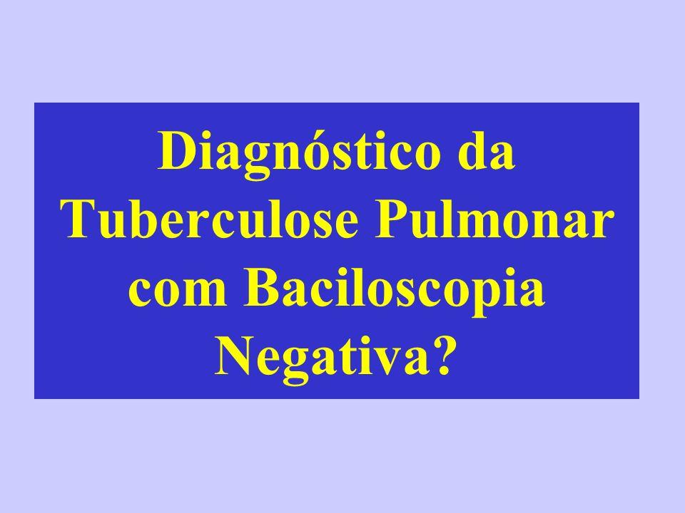 Diagnóstico da Tuberculose Pulmonar com Baciloscopia Negativa