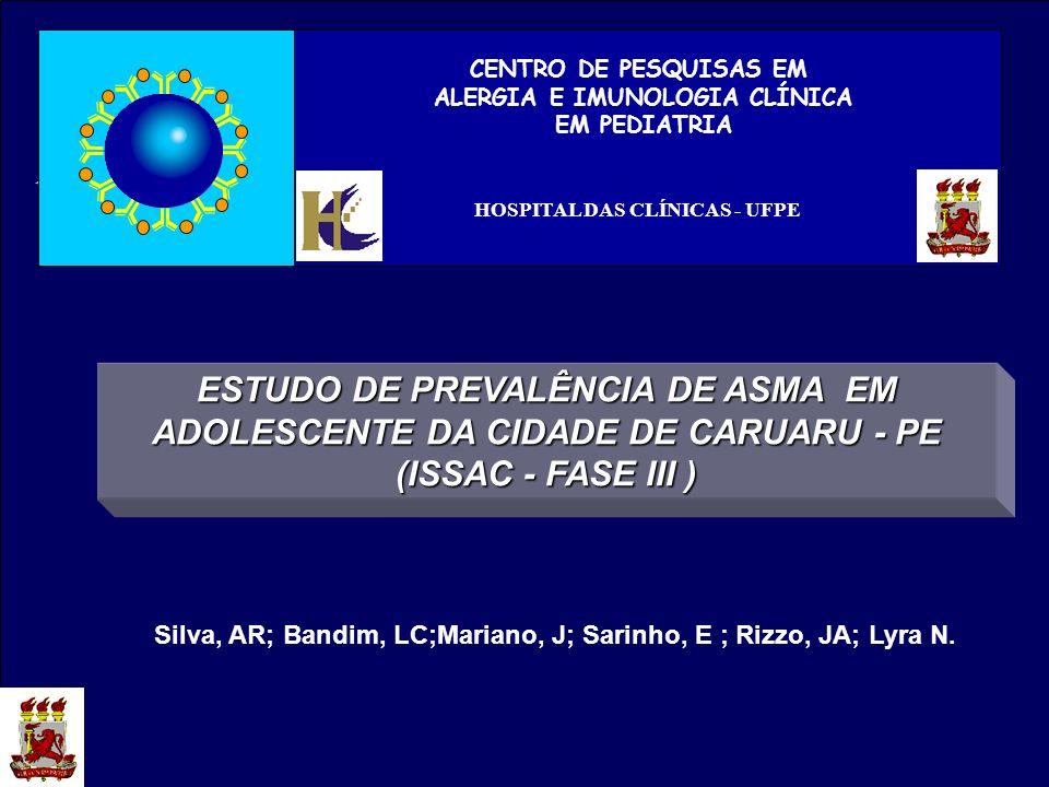 ALERGIA E IMUNOLOGIA CLÍNICA HOSPITAL DAS CLÍNICAS - UFPE