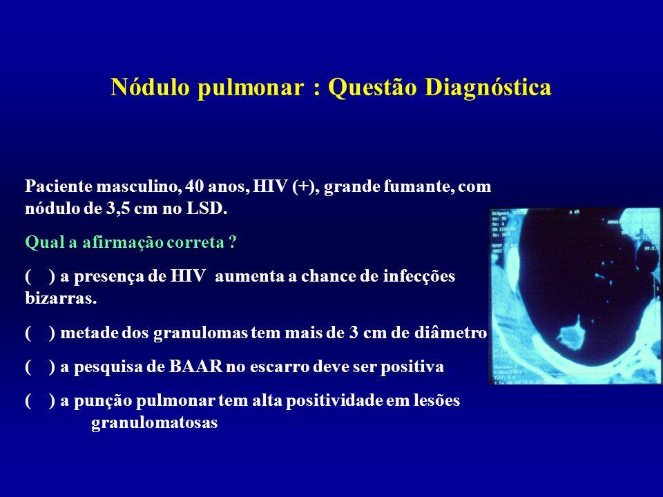 Nódulo pulmonar : Questão Diagnóstica