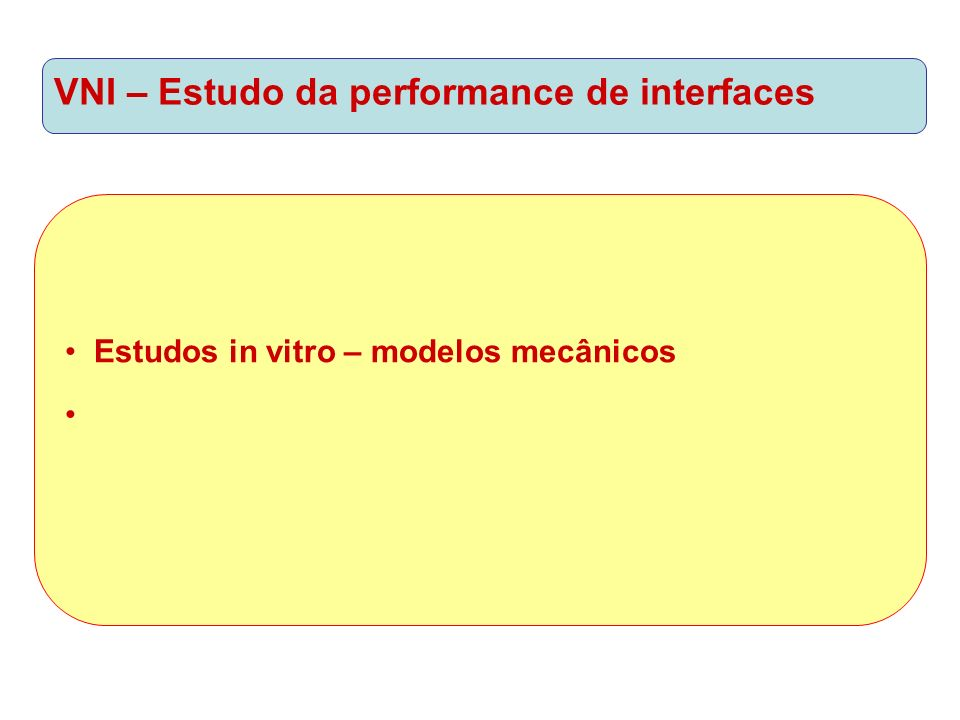VNI – Estudo da performance de interfaces