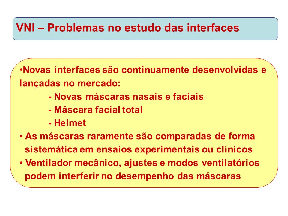 VNI – Problemas no estudo das interfaces