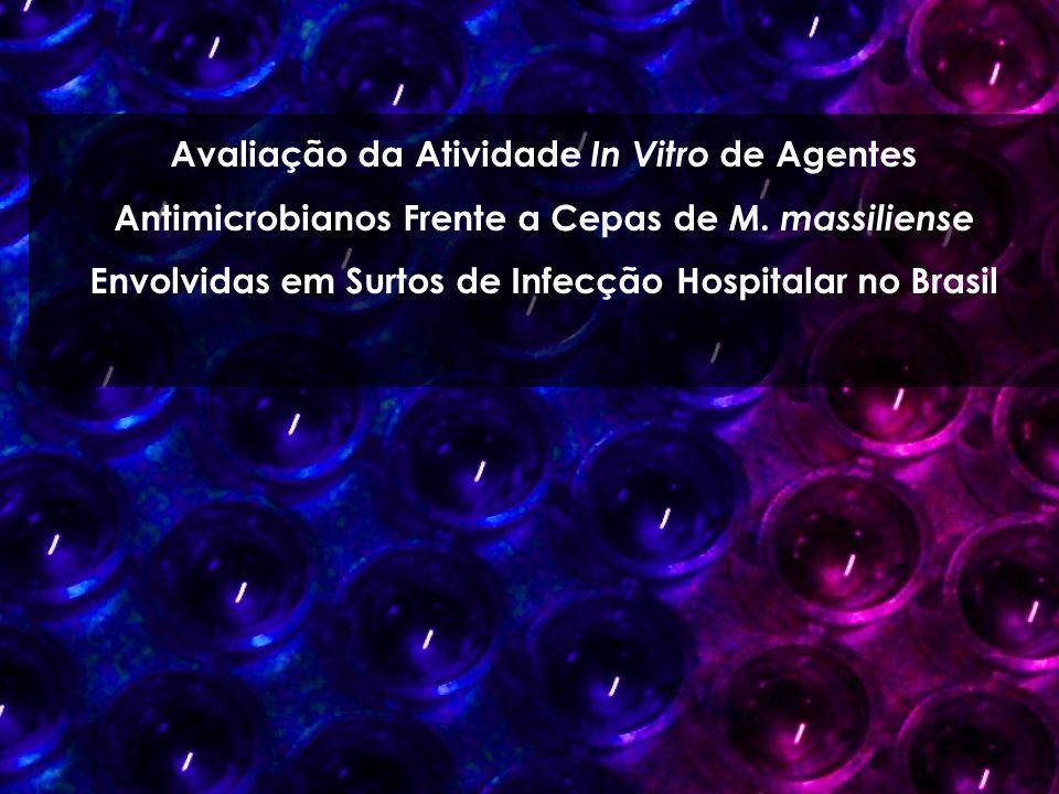 Avaliação da Atividade In Vitro de Agentes Antimicrobianos Frente a Cepas de M.
