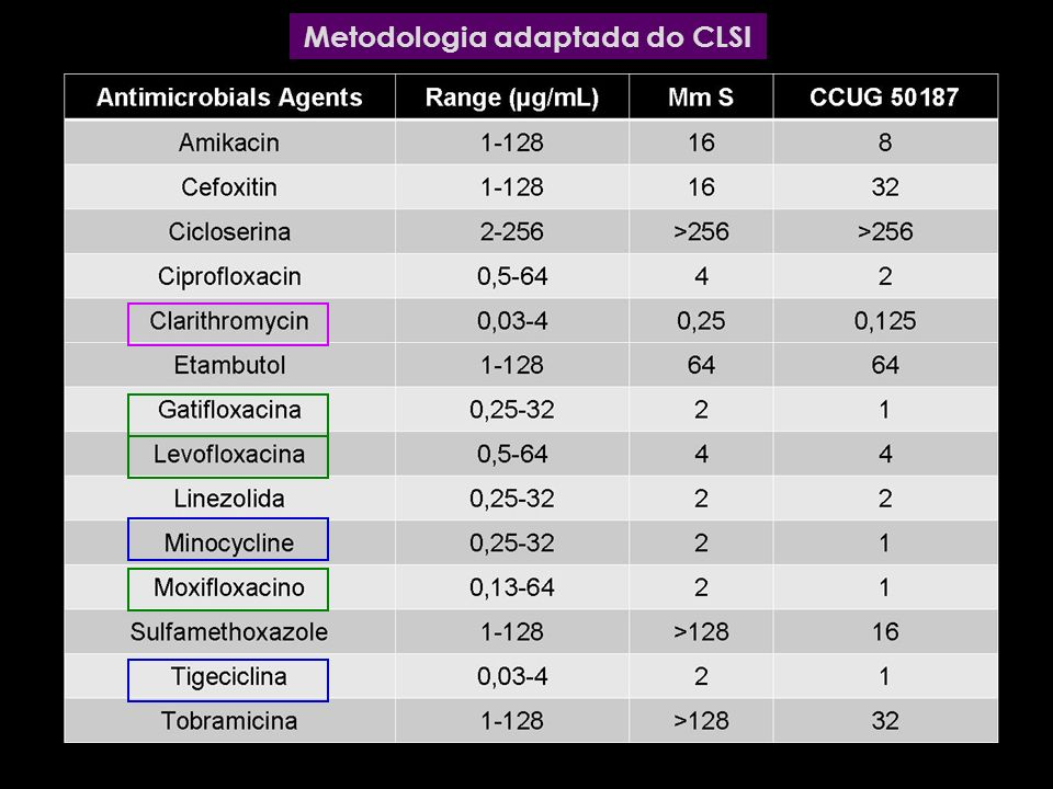 Metodologia adaptada do CLSI