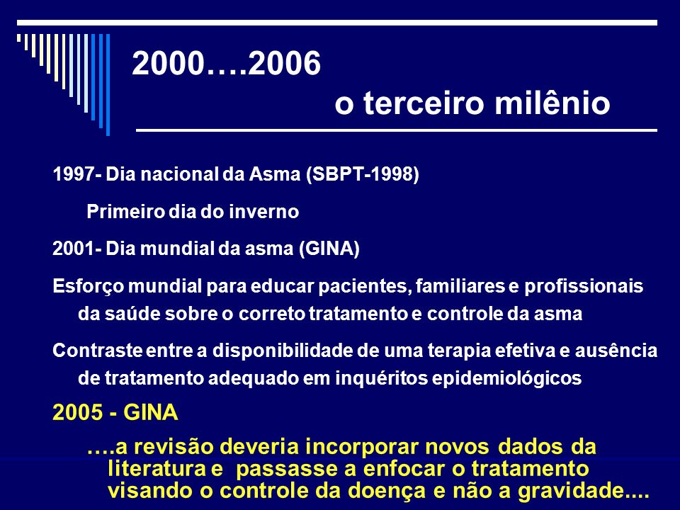 2000….2006 o terceiro milênio 2005 - GINA