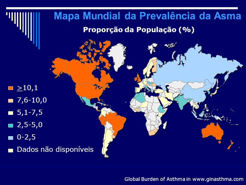 Mapa Mundial da Prevalência da Asma