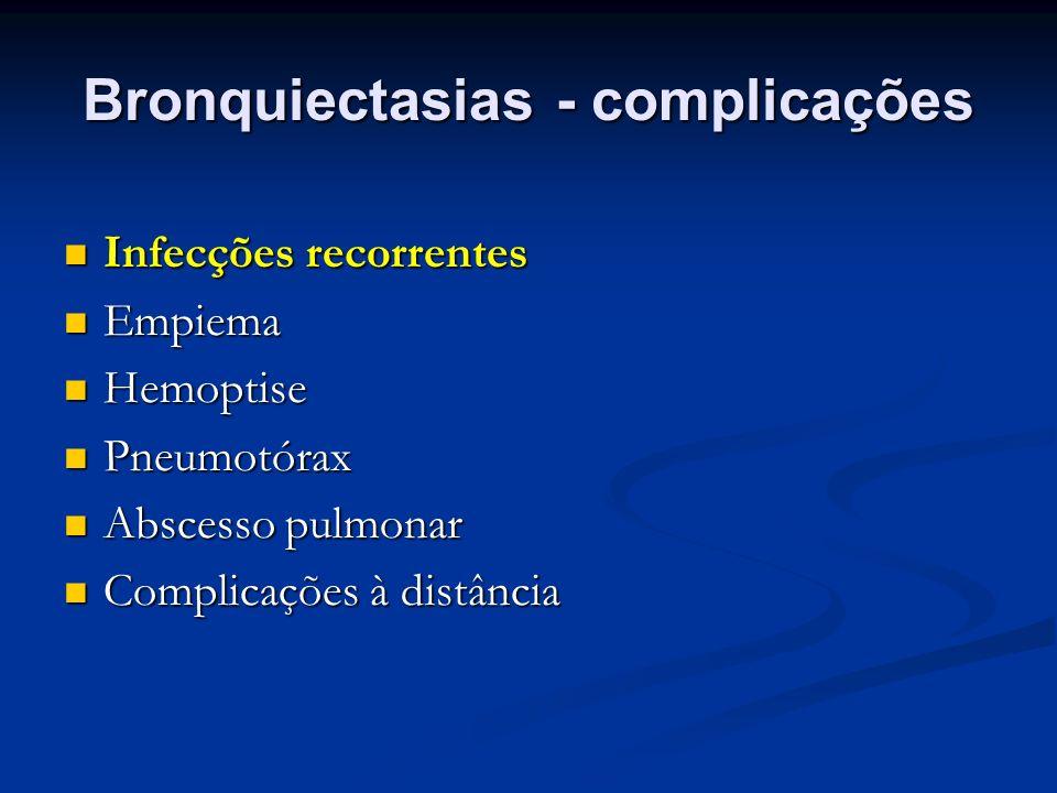 Bronquiectasias - complicações