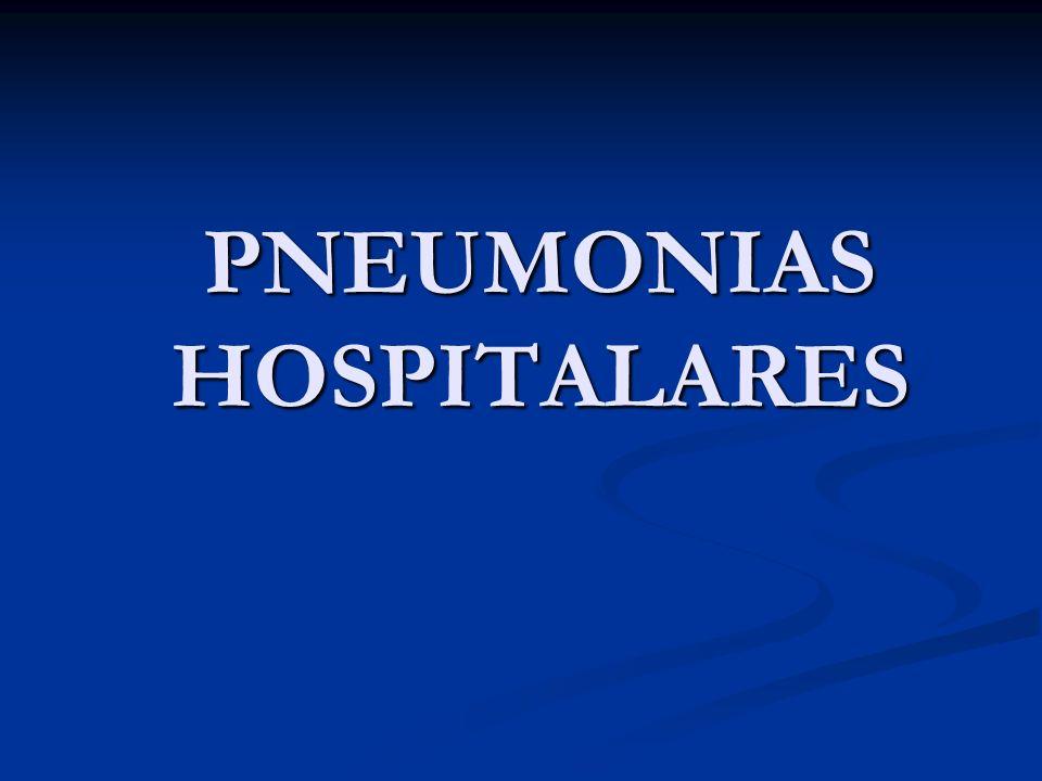 PNEUMONIAS HOSPITALARES