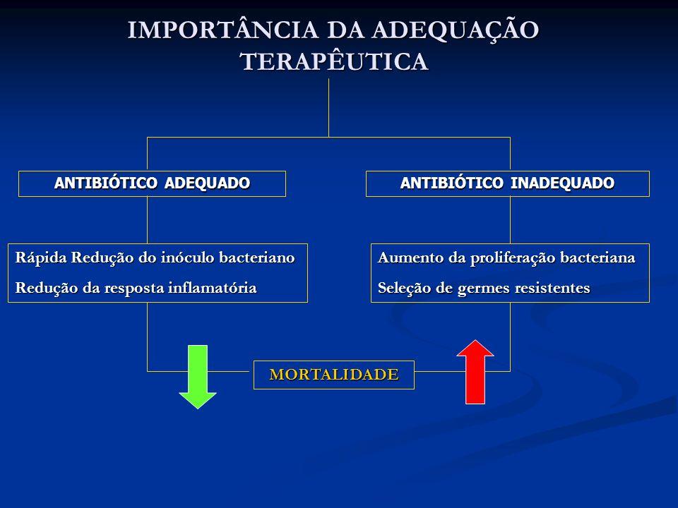 IMPORTÂNCIA DA ADEQUAÇÃO TERAPÊUTICA