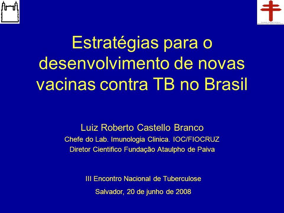 Estratégias para o desenvolvimento de novas vacinas contra TB no Brasil