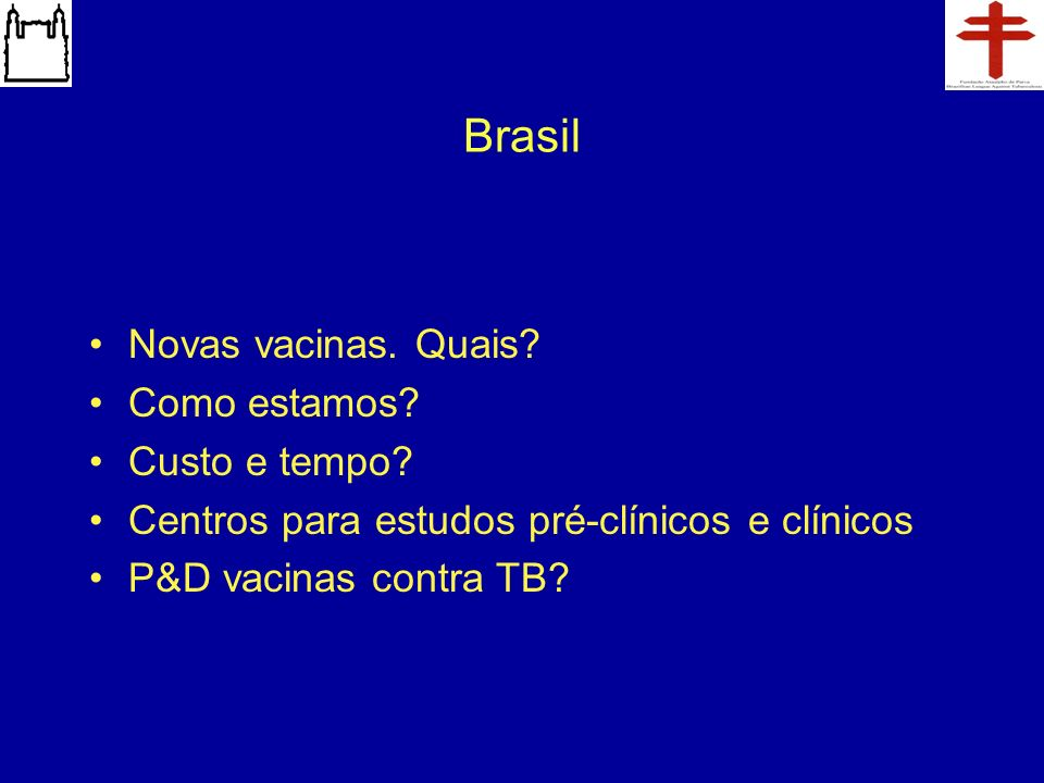 Brasil Novas vacinas. Quais Como estamos Custo e tempo