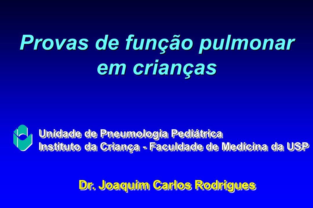 Provas de função pulmonar em crianças