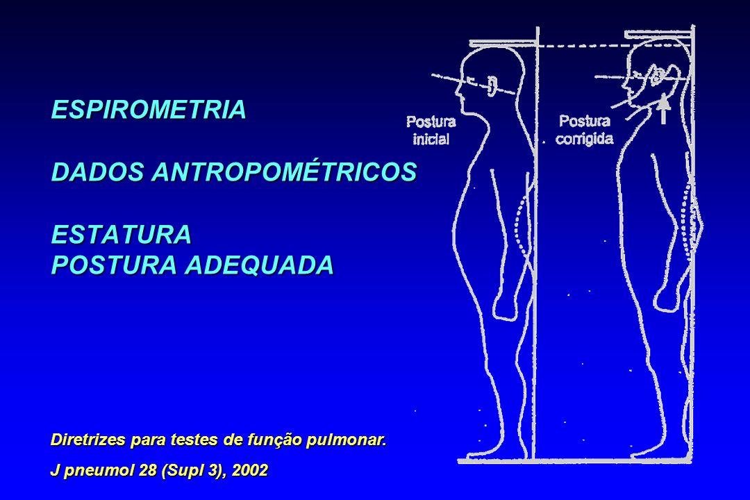 ESPIROMETRIA DADOS ANTROPOMÉTRICOS ESTATURA POSTURA ADEQUADA