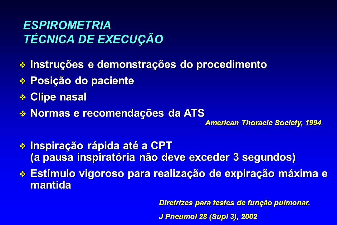 ESPIROMETRIA TÉCNICA DE EXECUÇÃO