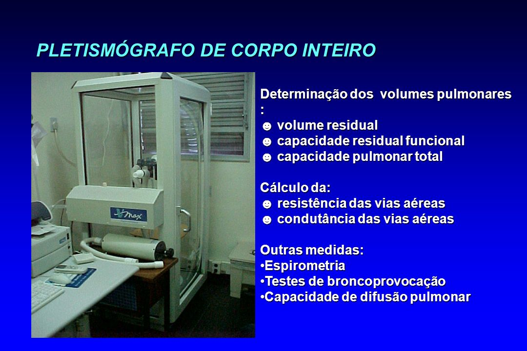 PLETISMÓGRAFO DE CORPO INTEIRO