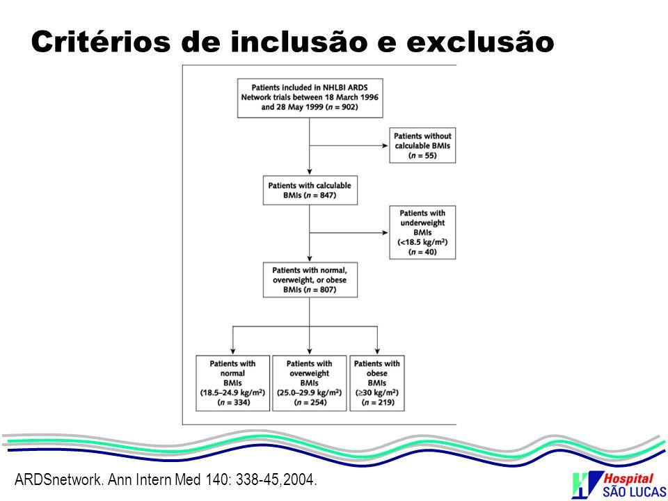 Critérios de inclusão e exclusão