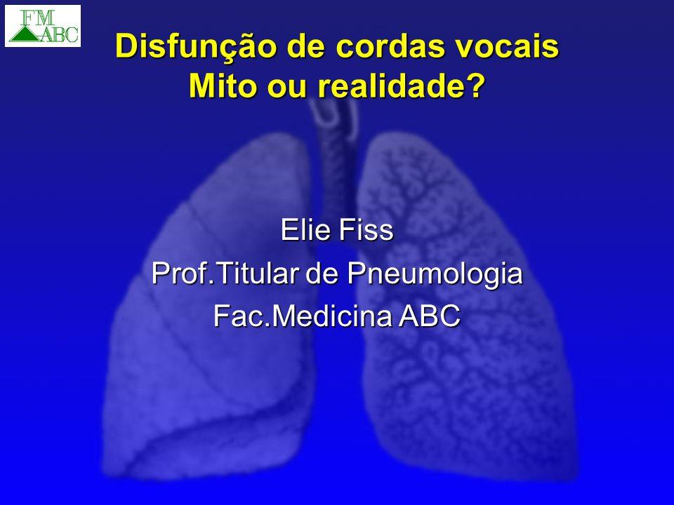 Disfunção de cordas vocais Mito ou realidade